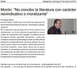 Monólogos con maniquí - eltelegrama.es Melilla (27-01-13)