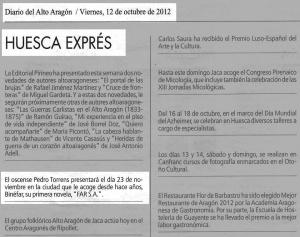 Diario del Alto Aragón (12-10-12) 2