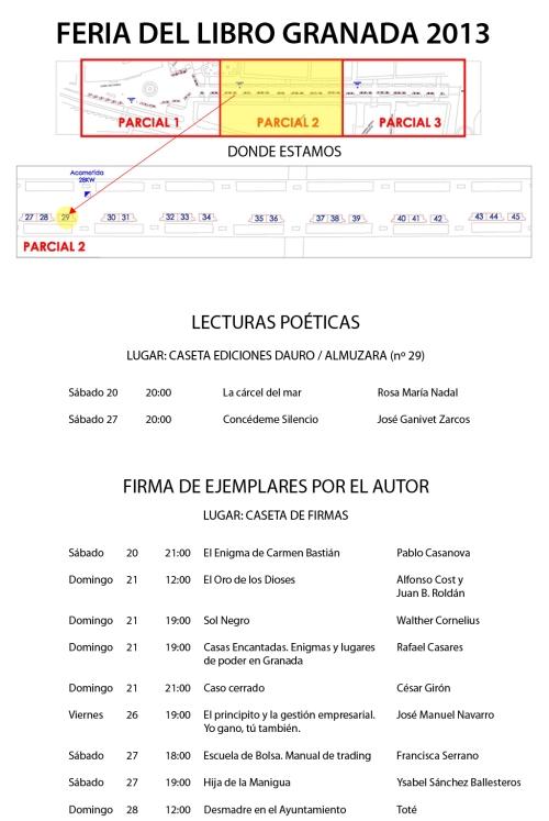 FERIA DEL LIBRO GRANADA 2013 actualizado