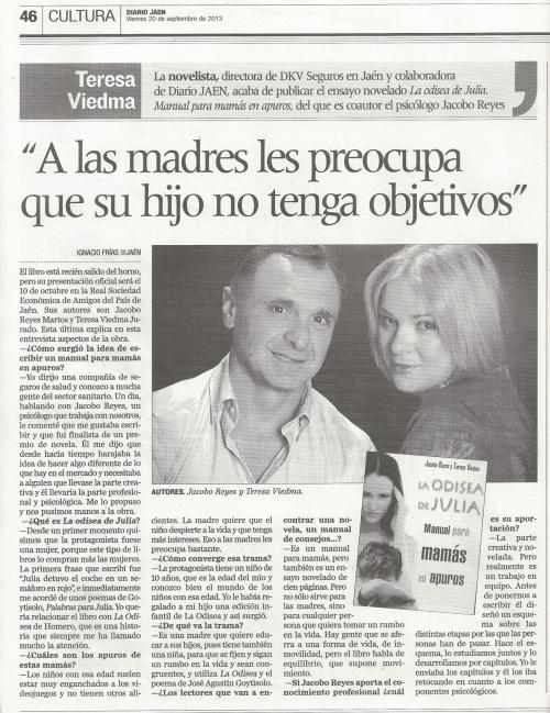 Entrevista Diario Jaén 20-09-13