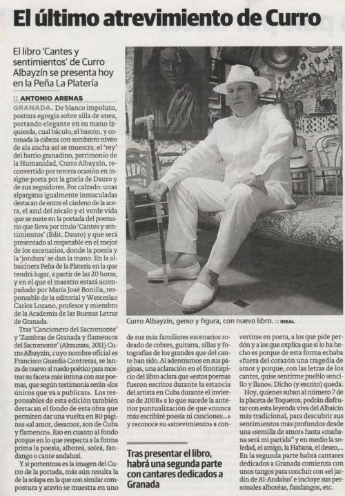 Curro Albayzín en Ideal