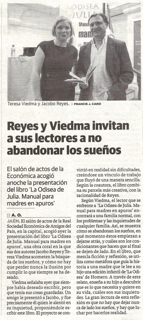 Presentacion de La odisea de Julia. Diario Ideal