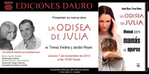 LA ODISEA DE JULIA_invitacion_GRANADA