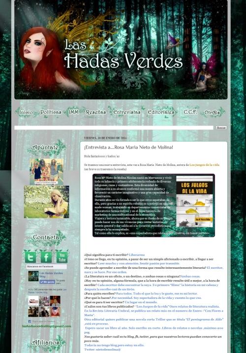 Entrevista blog hadas verdes