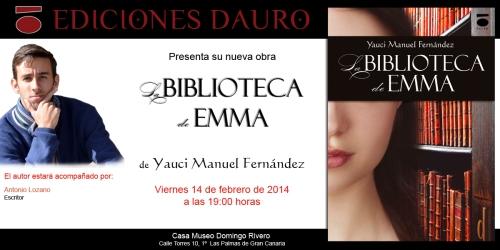 LA BIBLIOTECA DE EMMA_invitacion_las palmas