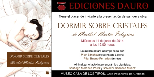 DORMIR SOBRE CRISTALES_invitacion_imprenta