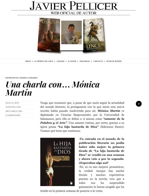 Enntrevista blog Javier Pellicer