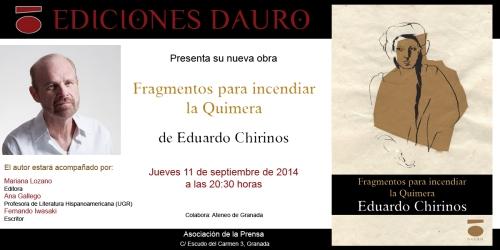 FRAGMENTOS PARA INCENDIAR LA QUIMERA_invitacion_Granada