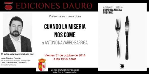 CUANDO LA MISERIA NOS COME_invitacion31-10-14