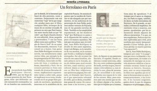 Manuscritos de Paris-Diario de Ferrol