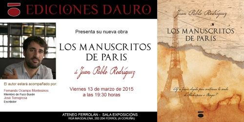 LOS MANUSCRITOS DE PARIS_invitacion