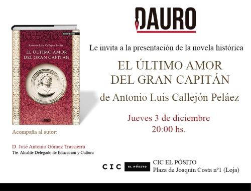 EL ÚLTIMO AMOR_invitacion Loja