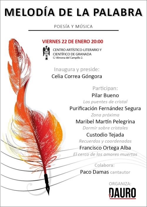 MELODÍA DE LA PALABRA 22-01-16_poster