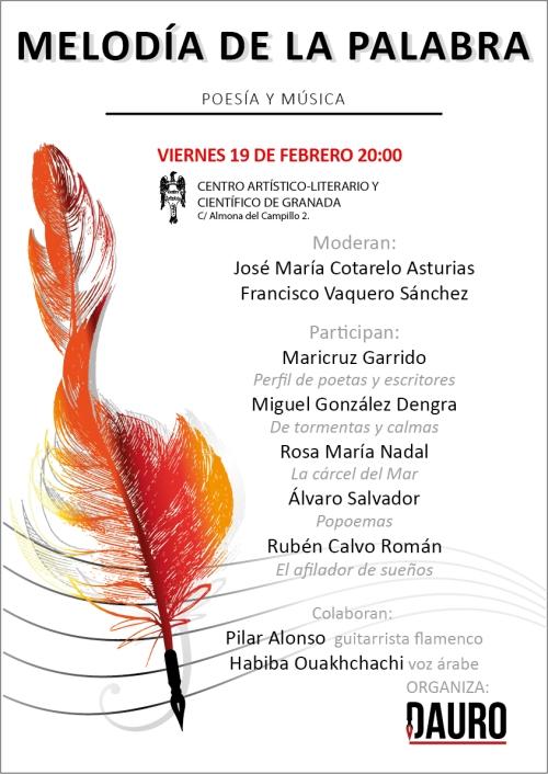 MELODÍA DE LA PALABRA 19-02-16_poster