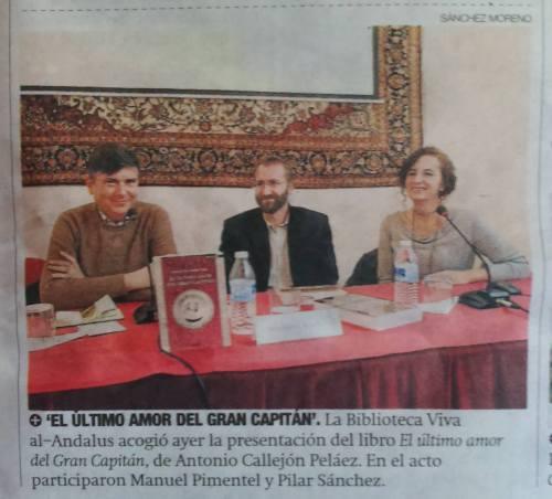 Reseña periódico Córdoba