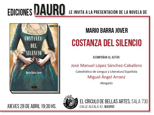COSTANZA DEL SILENCIO_invitación
