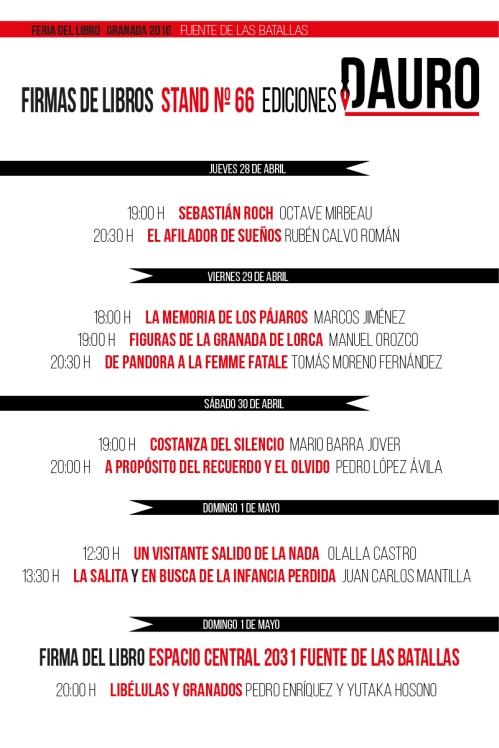 FERIA DEL LIBRO 2016_programación