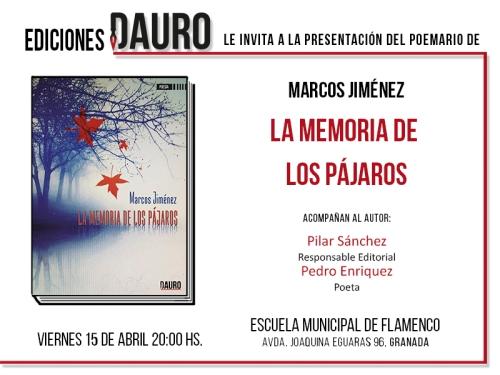 LA MEMORIA DE LOS PAJAROS_invitación_15-04-16