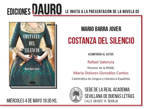 COSTANZA DEL SILENCIO_invitación 04-05-16