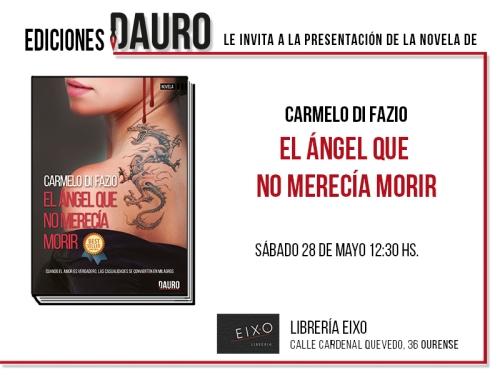 EN ANGEL QUE NO MERECIA MORIR_invitación_28-5-16