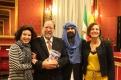 Trinidad Sevillano, Antonio Enrique, EleazarSantana y Pilar Sánchez