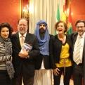 Trinidad Sevillano, Antonio Enrique, EleazarSantana y Pilar Sánchez, Baldomero Oliver